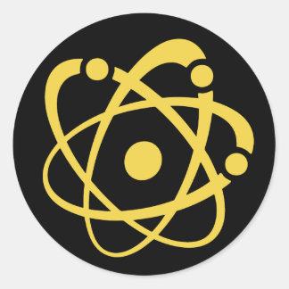 Atomic Bingo Au Go Go Classic Round Sticker