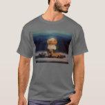 Atomic Bomb Blast, Blue with Lightning Bolt T-Shirt