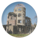 Atomic Bomb Dome, Hiroshima, Japan Dinner Plates