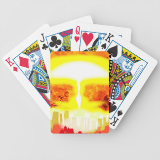 Atomic Bomb Heat Background Bicycle Playing Cards