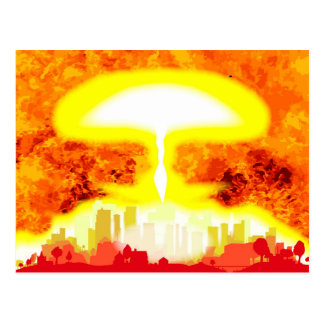 Atomic Bomb Heat Background Postcard