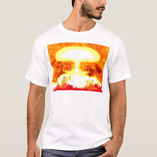 Atomic Bomb Heat Background T-Shirt