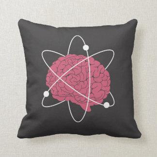 Atomic Brain Throw Pillow