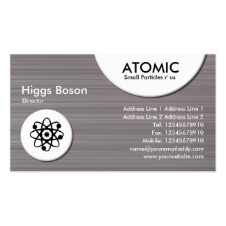 Atomic Circles - Brushed Metal II Texture Double-Sided Standard Business Cards (Pack Of 100)