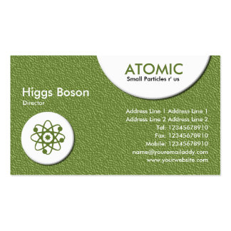 Atomic Circles - Green Embossed Texture Double-Sided Standard Business Cards (Pack Of 100)