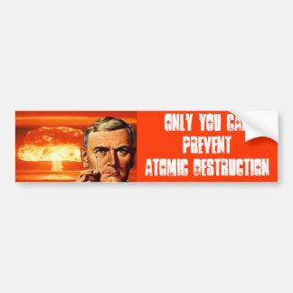 Atomic Destruction Bumper Sticker
