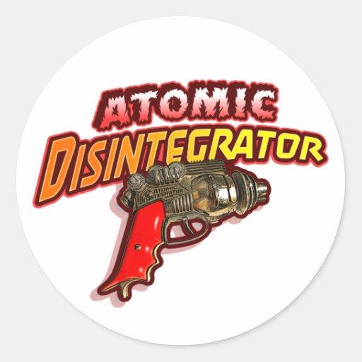 Atomic Disintegrator Round Sticker