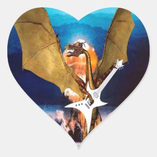 ATOMIC DRAGON HEART STICKER