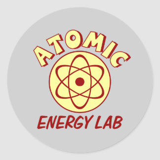 Atomic Energy Lab Classic Round Sticker