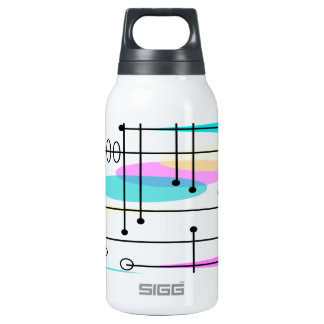 Atomic Era Abstract Colors and Design Insulated Water Bottle