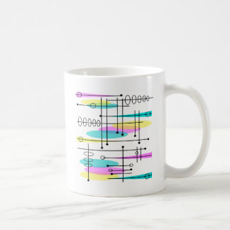 Atomic Era Abstract Colors and Design Classic White Coffee Mug