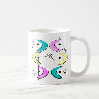 Atomic Era Boomerang Abstracts Classic White Coffee Mug