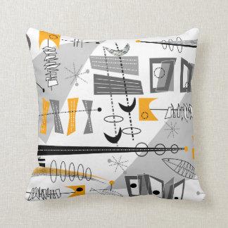 Atomic Era Inspired Abstract Throw Pillow