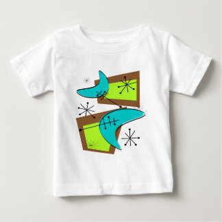 Atomic Era Inspired Boomerang Design Baby T-Shirt