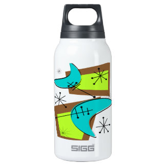 Atomic Era Inspired Boomerang Design Insulated Water Bottle