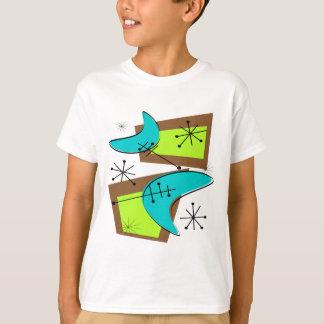 Atomic Era Inspired Boomerang Design T-Shirt