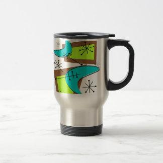 Atomic Era Inspired Boomerang Design Travel Mug