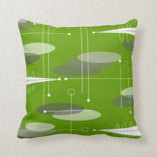 Atomic Era Inspired in Lime Throw Pillow