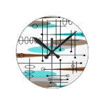 Atomic Era Inspired Mid-Century Design 13 Wall Clocks