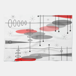 Atomic Era Inspired Mid-Century Design 15 Hand Towels