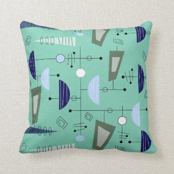 Atomic Era Inspired Pillow Abstract #100