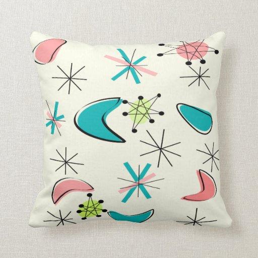 Atomic Era Inspired Pillow Design Mid-Century Zazzle