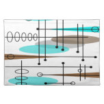 Atomic Era Mid-Century Modern Abstract Cloth Placemat