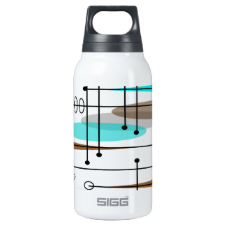 Atomic Era Mid-Century Modern Abstract Insulated Water Bottle