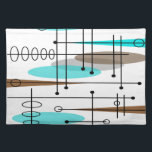 """Atomic Era Mid-Century Modern Abstract Placemat<br><div class=""""desc"""">Atomic Era Mid-Century Modern Abstract design in brown and teal.  Perfect for anyone who appreciates the Atomic and mid-century inspired era.</div>"""