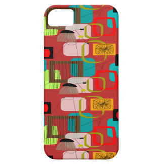 Atomic Era Space Age iPhone 5/5S case Red