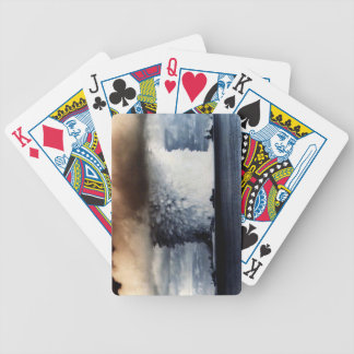 atomic explosion bicycle playing cards