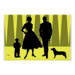 Atomic Family Gold Poster
