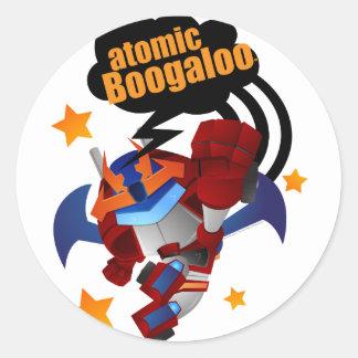 Atomic Fighter R-Savior Classic Round Sticker