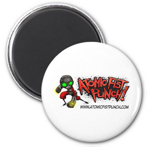 ATOMIC FIST PUNCH 2 INCH ROUND MAGNET