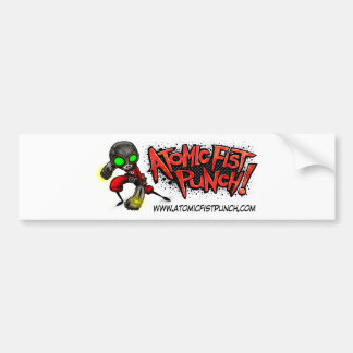 ATOMIC FIST PUNCH BUMPER STICKER