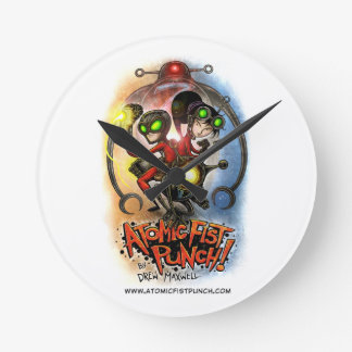 ATOMIC FIST PUNCH SUPER CLOCK!!! ROUND CLOCK