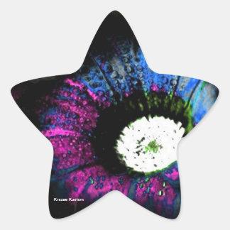 Atomic Flower Star Stickers