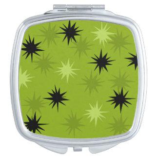 Atomic Green Starbursts Compact Mirror