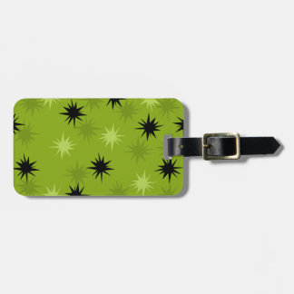 Atomic Green Starbursts Luggage Tag