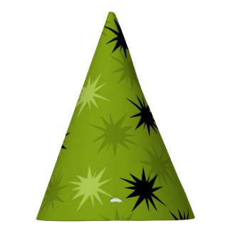 Atomic Green Starbursts Party Hats
