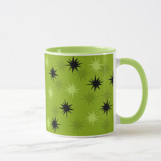 Atomic Green Starbursts Ringer Mug