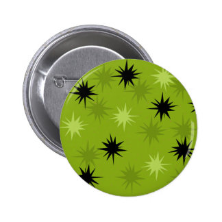 Atomic Green Starbursts Round Button