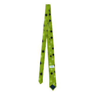 Atomic Green Starbursts Skinny Tie