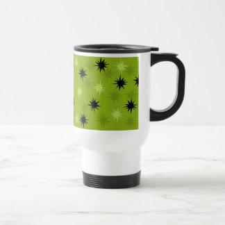 Atomic Green Starbursts Travel Mug