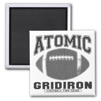 Atomic Gridiron Black and Silver Magnet