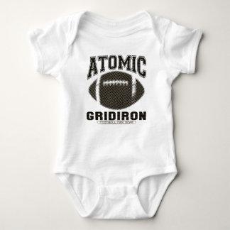 Atomic Gridiron Black Gold Baby Bodysuit