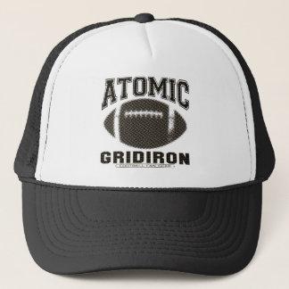 Atomic Gridiron Black Gold Trucker Hat