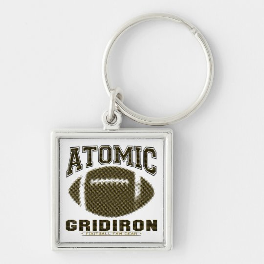 Atomic Gridiron Black Yellow Keychain