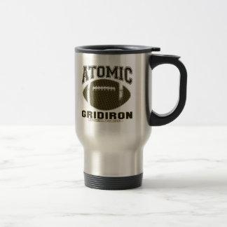 Atomic Gridiron Black Yellow Travel Mug