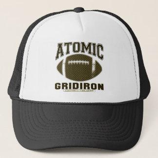 Atomic Gridiron Black Yellow Trucker Hat
